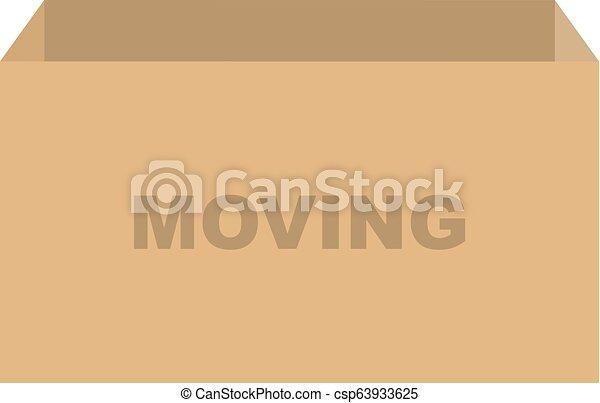 箱, ベクトル, 引っ越し - csp63933625