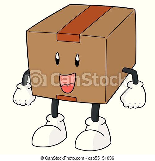 箱, ベクトル, 漫画 - csp55151036