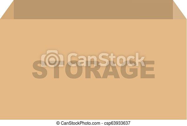 箱, ベクトル, 貯蔵 - csp63933637