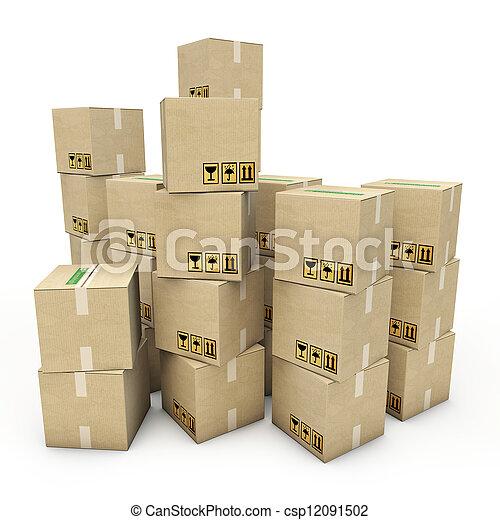 箱, ボール紙 - csp12091502