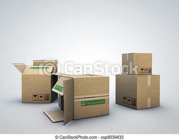 箱, ボール紙 - csp9039433