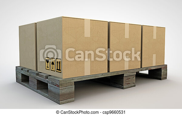 箱, ボール紙 - csp9660531