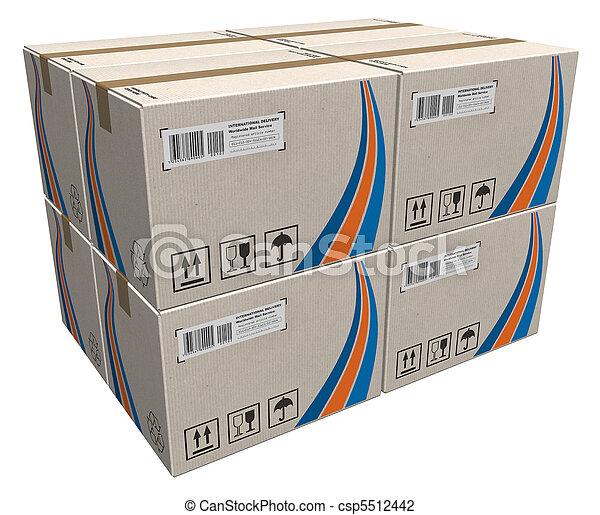 箱, ボール紙, 山 - csp5512442