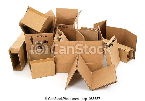 箱, ボール紙, 山 - csp1085657