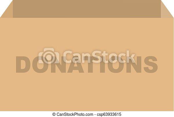 箱, 寄付, ベクトル - csp63933615