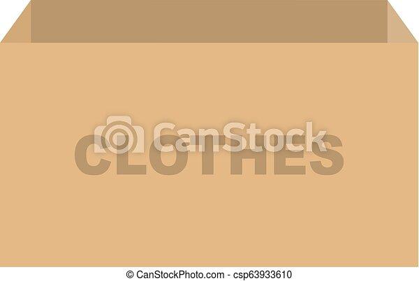 箱, 寄付, ベクトル, 衣服 - csp63933610