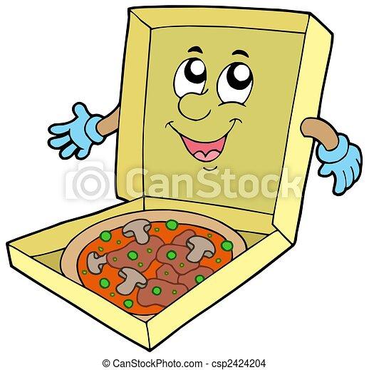 箱, 漫画, ピザ - csp2424204