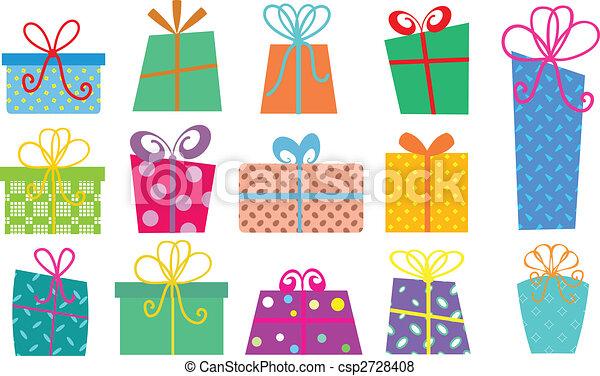 箱, 漫画, 贈り物 - csp2728408