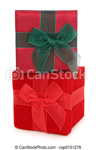 箱, 積み重ねられた, 生地, 贈り物 - csp0151276