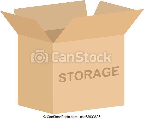 箱, 自己, ベクトル, 貯蔵 - csp63933636