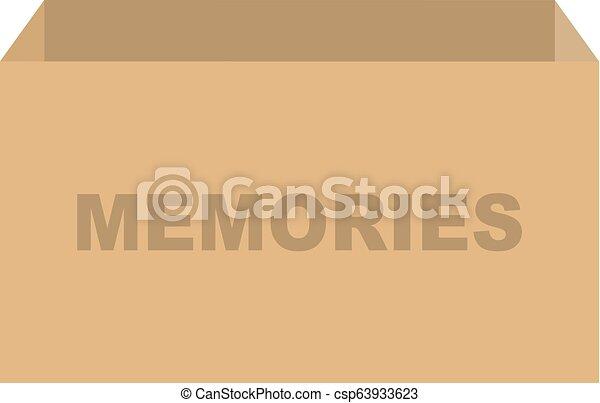 箱, 記憶, ベクトル - csp63933623