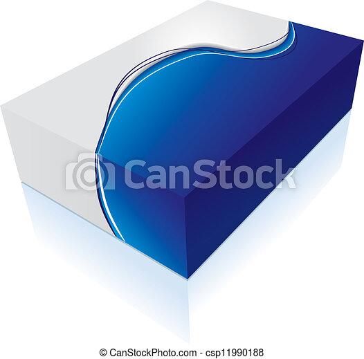 箱, 3d, アイコン - csp11990188