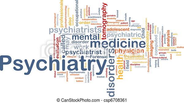 精神医学, 概念, 背景 - csp6708361