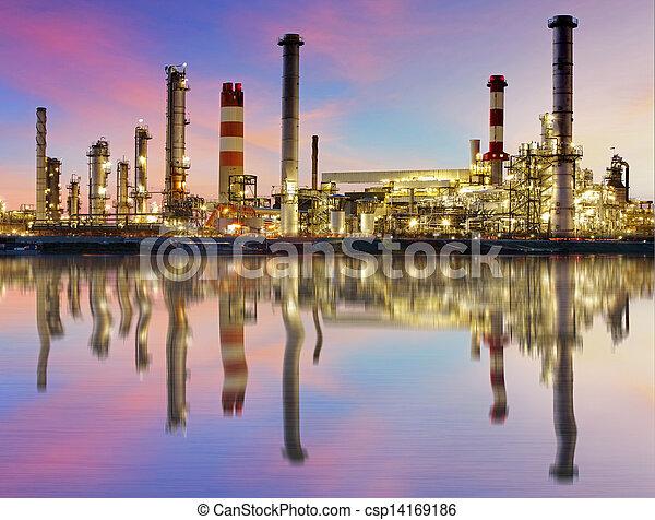 精製所, 産業, オイル, -, 植物 - csp14169186