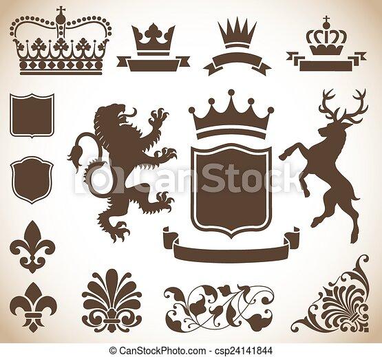 紋章学, 装飾 - csp24141844