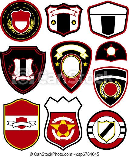 紋章, シンボル, バッジ, デザイン - csp6784645