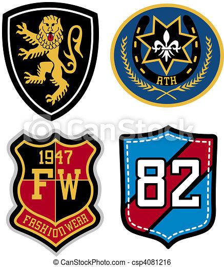 紋章, デザイン, バッジ - csp4081216