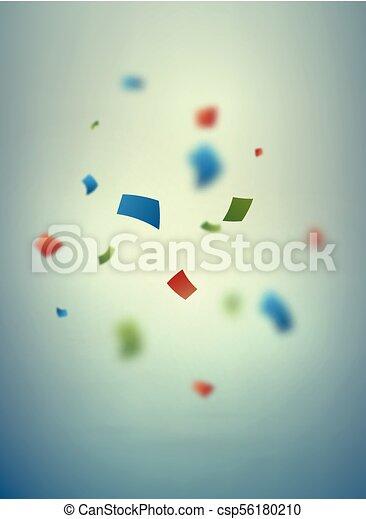紙ふぶき, 背景, ぼんやりさせられた - csp56180210