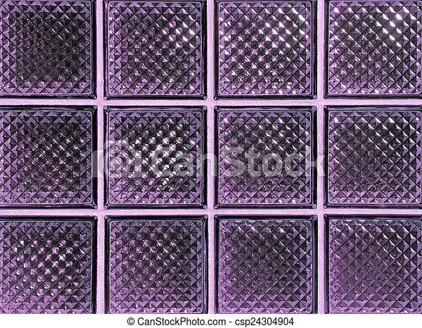 紫色, ガラスブロック - csp24304904