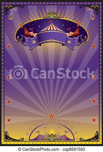 紫色, サーカス - csp9591593