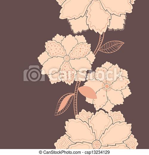 紫色, パターン, 花, 縦 - csp13234129