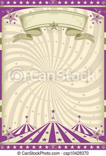 紫色, 型, サーカス - csp10428370