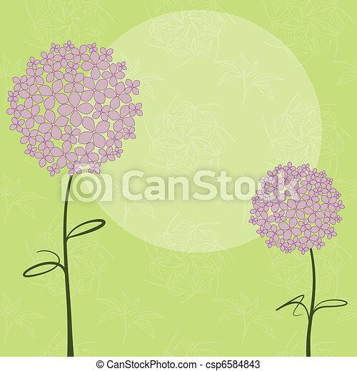 紫色, 抽象的, 花, アジサイ, 春 - csp6584843