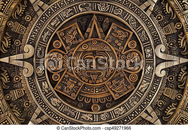 終わり, カレンダー, aztec, 光景 - csp49271966