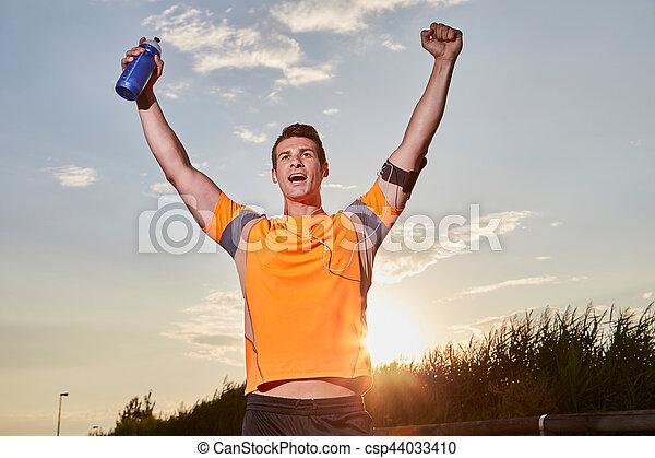 終わり, ランナー, スプリンター, 勝者, 若い, 1(人・つ), 動くこと, 線, コーカサス人, 人 - csp44033410