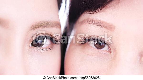 終わり, 女性の目, の上 - csp56963025