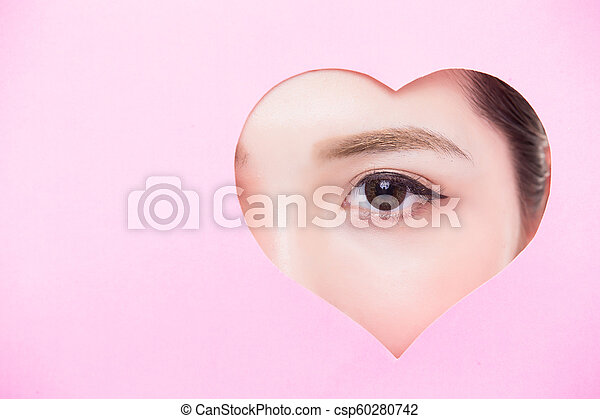 終わり, 女性の目, の上 - csp60280742