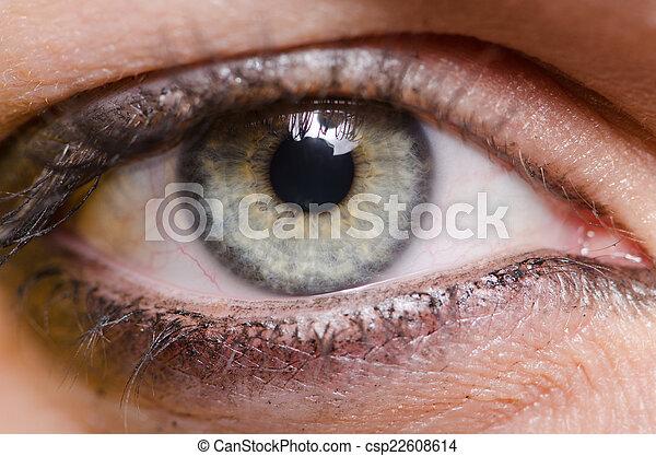 終わり, 女性の目, の上 - csp22608614