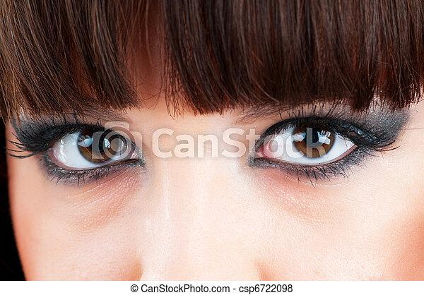 終わり, 女性の目, の上 - csp6722098
