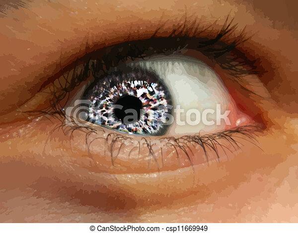 終わり, 目, の上 - csp11669949