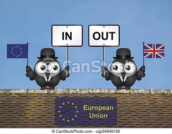 組合, 屋根, referendum, ヨーロッパ - csp34949158
