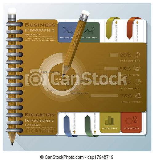 組織しなさい, ビジネス, ノート, infographic, デザイン, テンプレート - csp17948719
