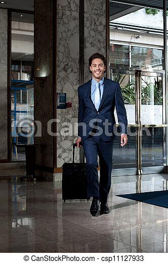 経営者, ホテル, ビジネス, 入る, ロビー - csp11127933