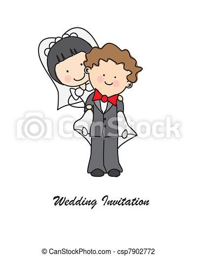 結婚式の招待 - csp7902772