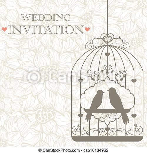 結婚式の招待 - csp10134962