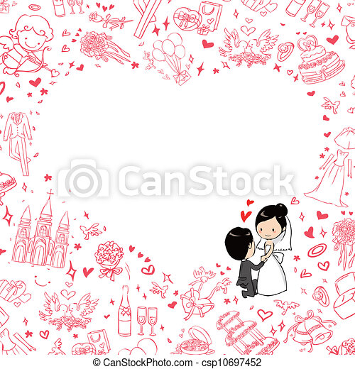 結婚式の招待 - csp10697452