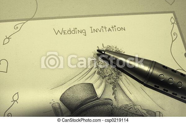 結婚式の招待 - csp0219114