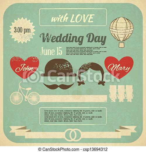 結婚式の招待 - csp13694312