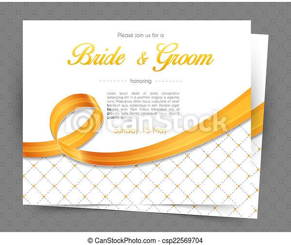 結婚式の招待 - csp22569704