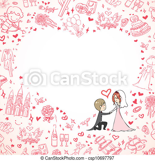 結婚式の招待 - csp10697797