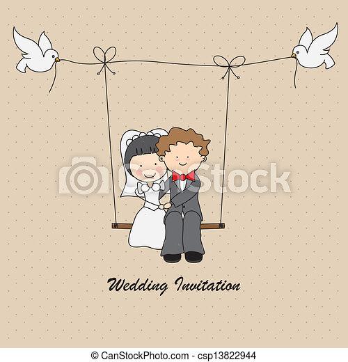 結婚式の招待 - csp13822944