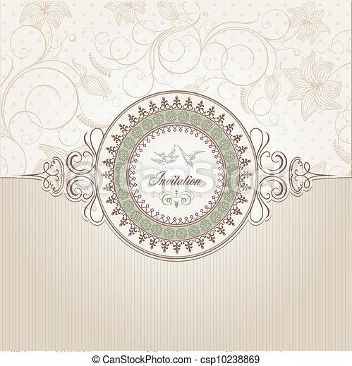 結婚式, カード, 招待 - csp10238869