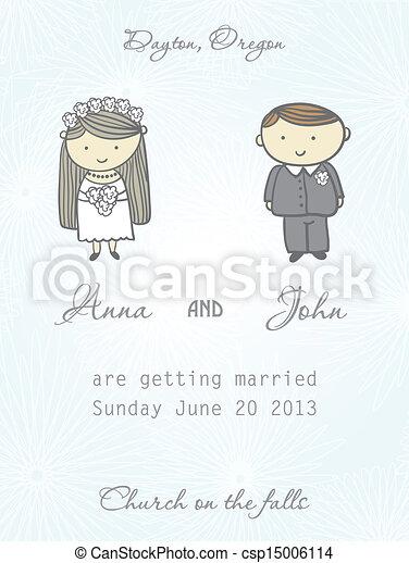 結婚式, カード, 招待 - csp15006114