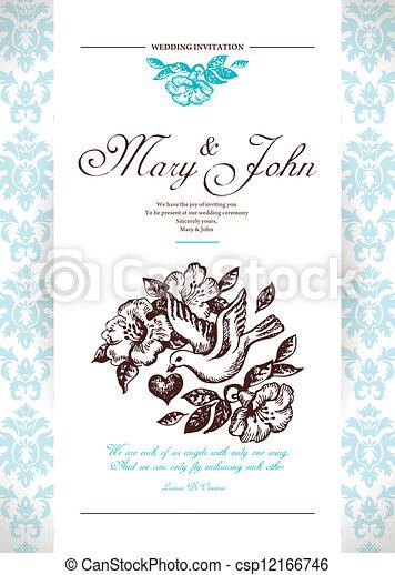 結婚式, カード, 招待 - csp12166746
