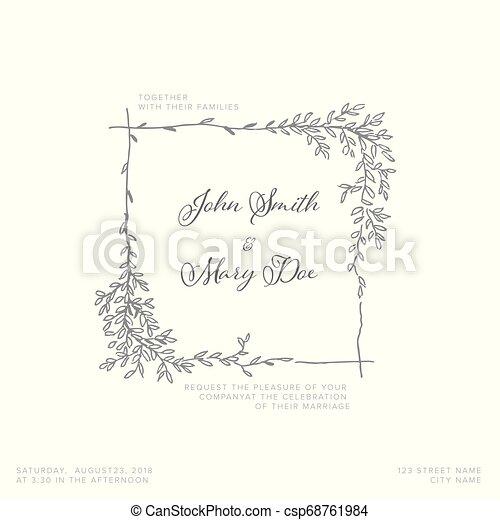 結婚式, テンプレート, 招待 - csp68761984