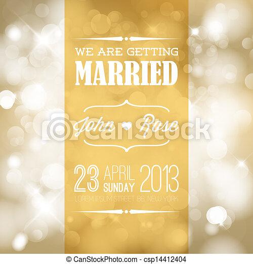 結婚式, ベクトル, 招待 - csp14412404